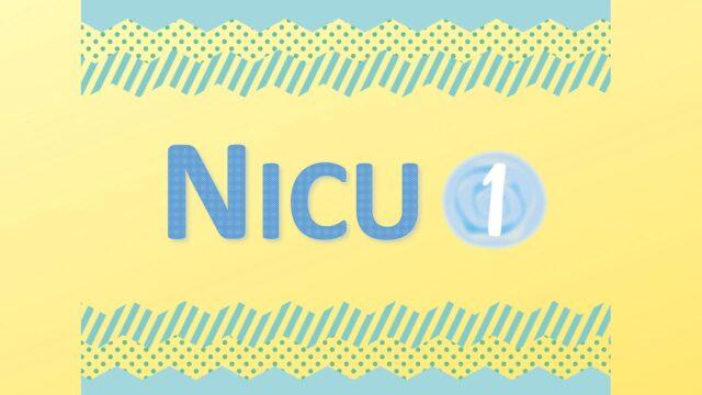 NICU-新生児集中治療室に入院中の生後1ヶ月までの記録