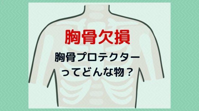 胸骨欠損の胸骨プロテクターってどんなもの